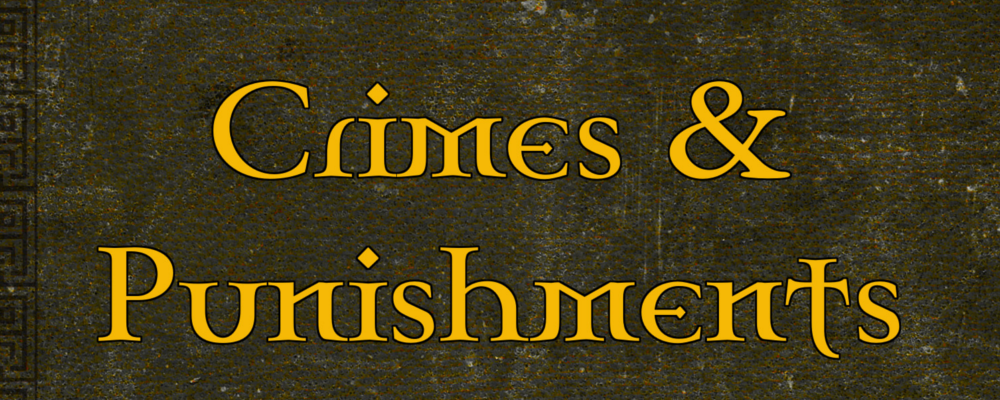 Quick Generator – Crimes & Punishments and the RPG Round Up