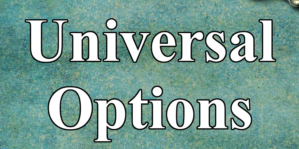 Spell Options 9 – Universal Options details and the RPG Round Up